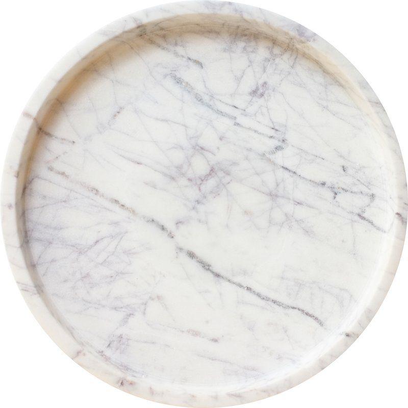 Epsilon Coffee Table Tray, Coffee Table Tray Round White