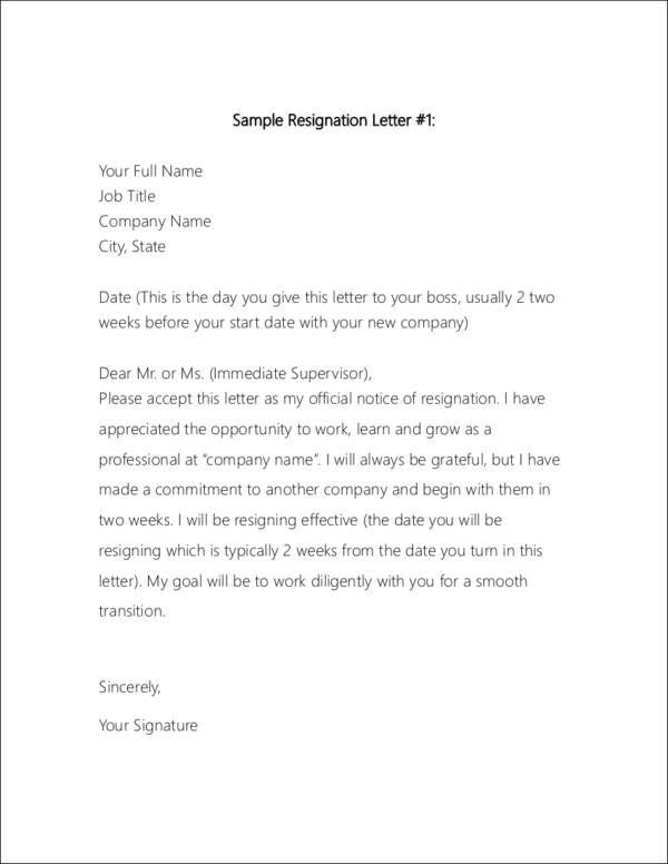 polite resignation letter format polite letter of resignation resume