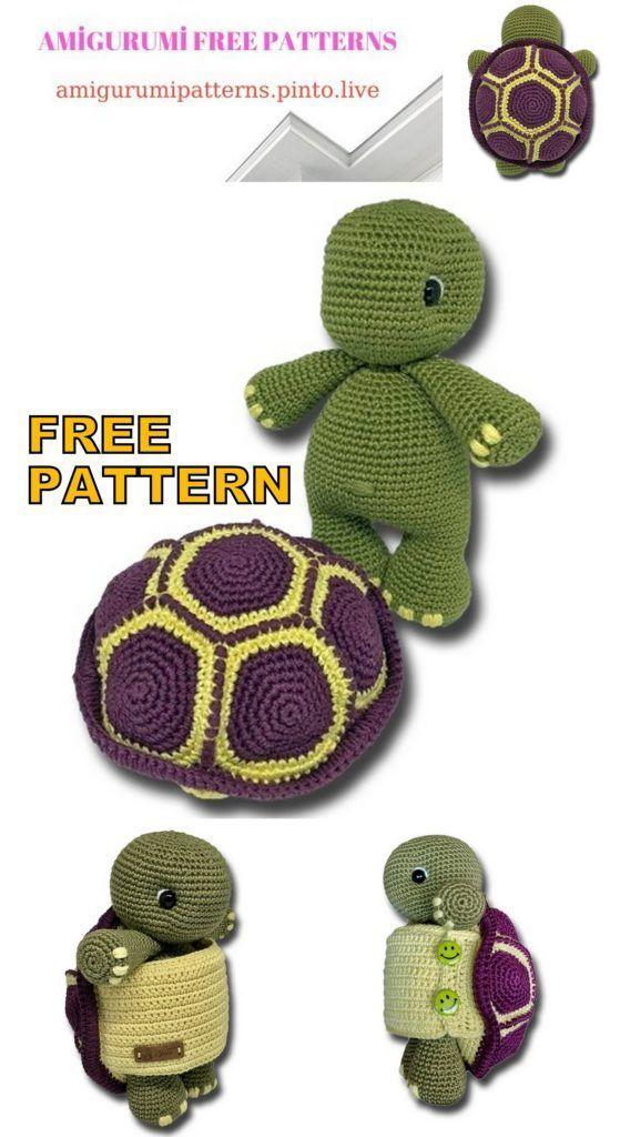 Amigurumi Turtle Free Crochet Pattern - Amigurumi Free Patterns, #Amigurumi #Crochet #free #pattern #patterns #Turtle