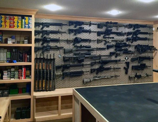 Home basement gun room designs awesome gun rooms for Gun room design