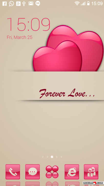 Forever Love CLauncher Themes available for free download.