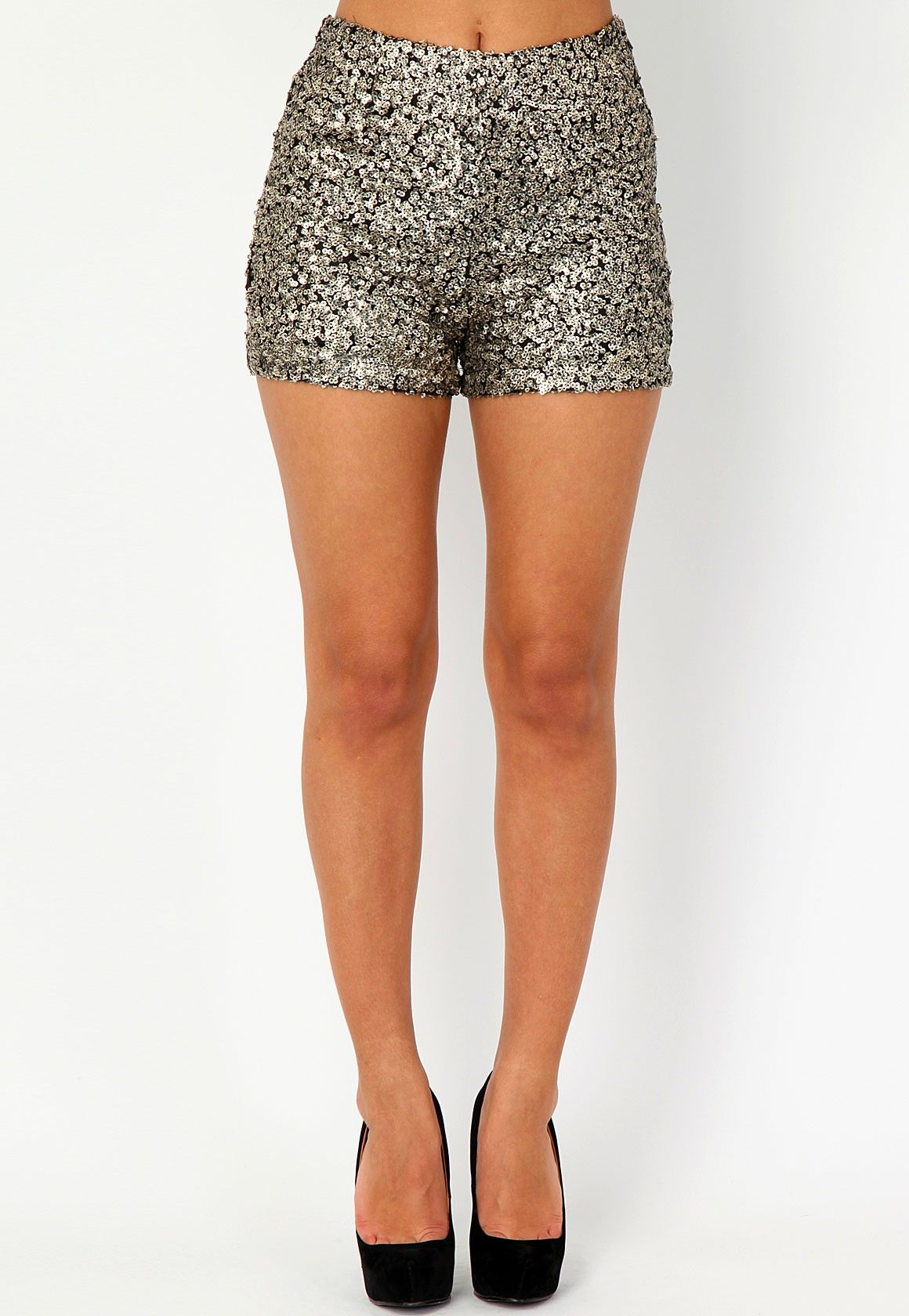 d80268a1 Korine High Waisted Sequin Shorts   Stylin in 2019   Fashion pants ...