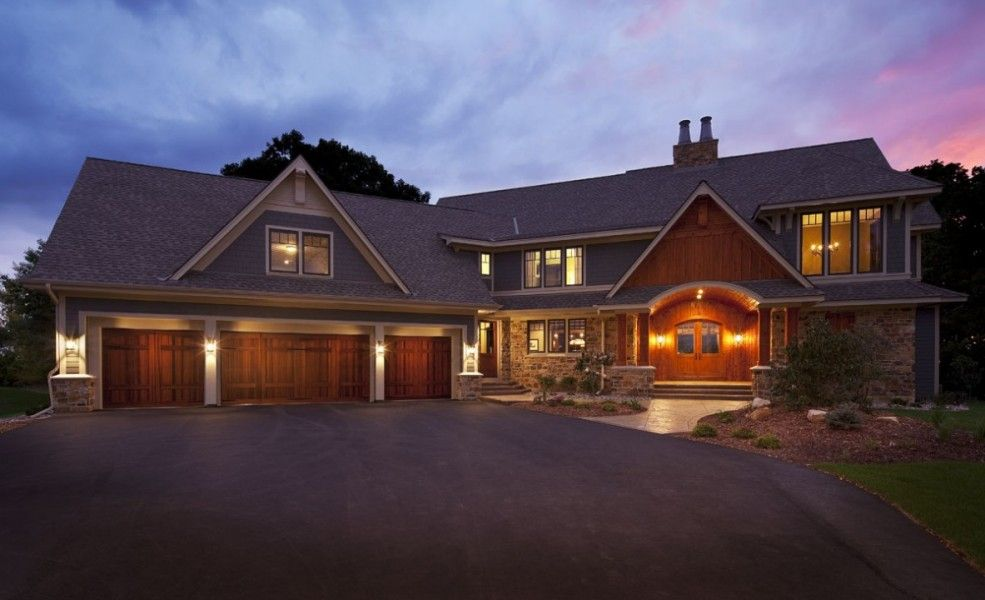 Rustic Contemporary Country Home Hendel Homes Contemporary Country Home Rustic Houses Exterior Rustic House