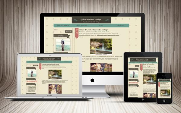 Wordpress theme by Marina López Heras, via Behance   Trabajos hechos ...