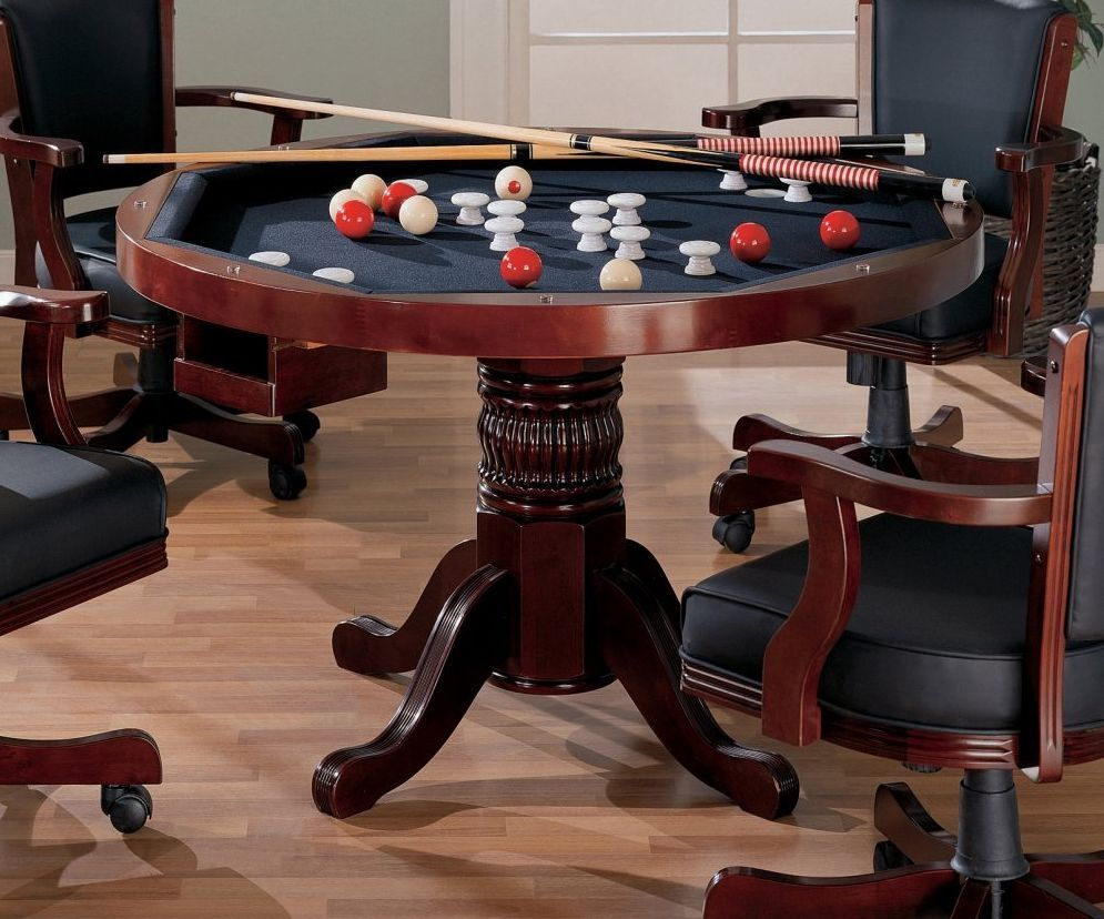 Bumper Pool Kitchen Table Bumper pool table, Game room