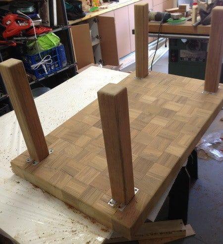 Custom Coffee Table Made From Recycled Teak Wood Diy Teak Coffee