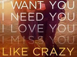 3 I Want You I Need You I Love You I Miss You Like Crazy V