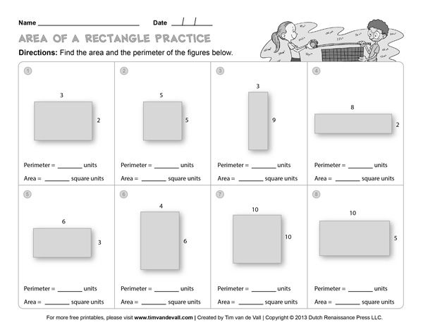 Free Area And Perimeter Worksheets Simple But Will Work