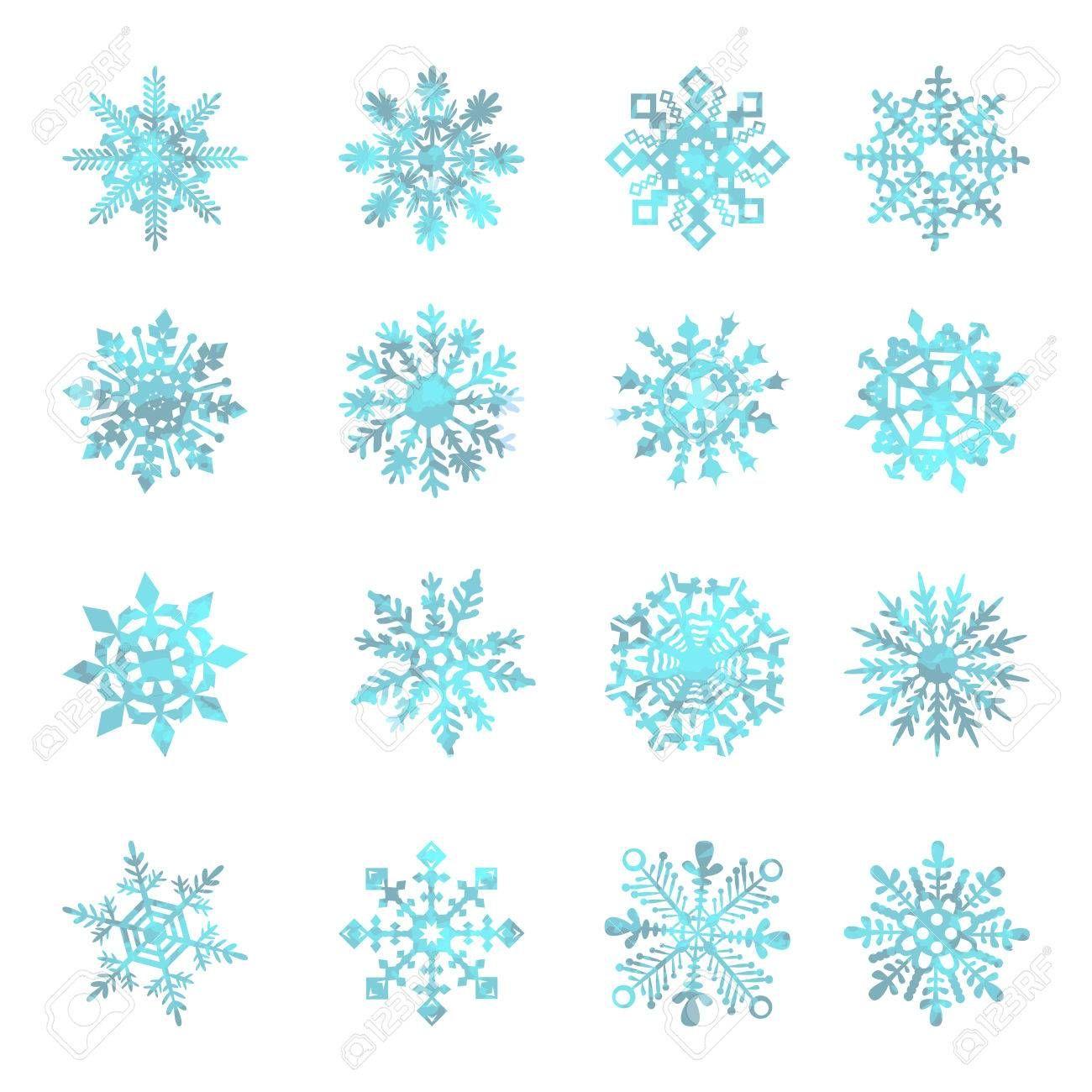 33469216WatercolorsnowflakesVECTORstarsymbolgraphic