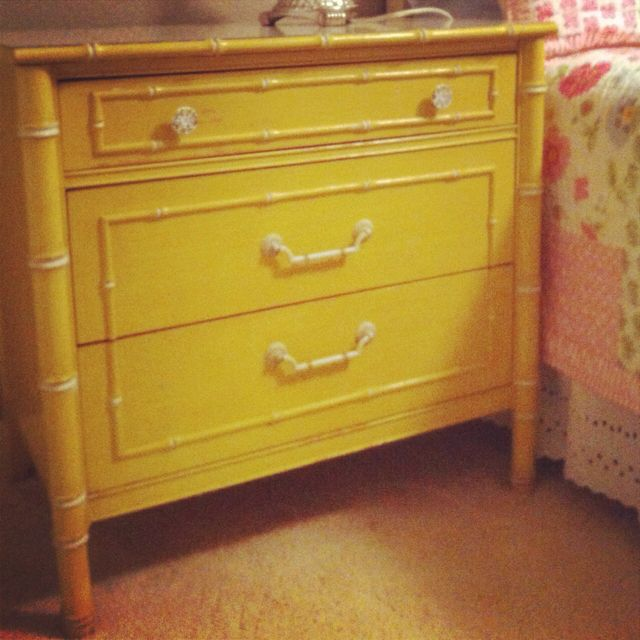 1960 S Thomasville Regency Hollywood Faux Bamboo Dresser In Yellow For G S Big Girl Room Thomasville Furniture Bedroom 1960 Furniture Furniture