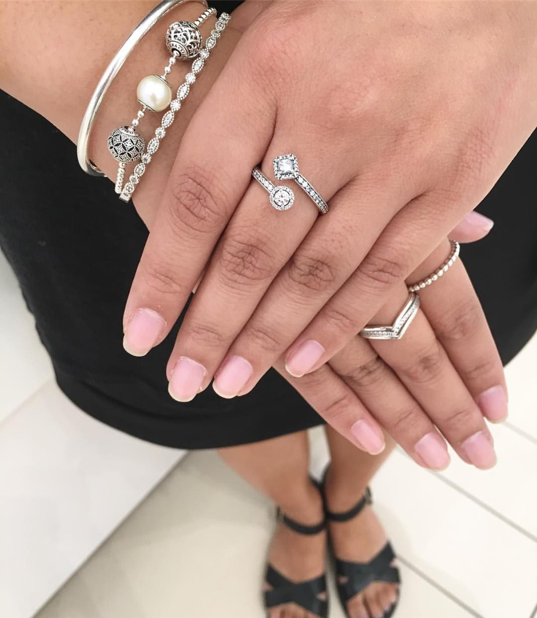 d9c0fe3b7 Our brand ambassador Aerielle is showing off our beautiful abstract elegance  ring everyone's been talking about! Come see us at @pandorapencentre for  yours!