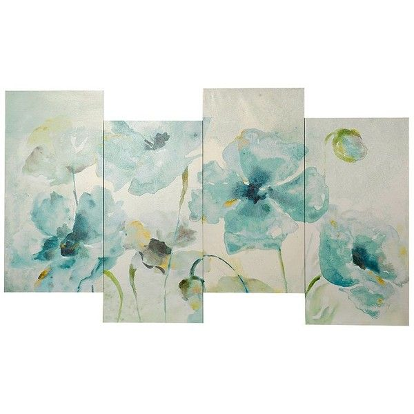 Watercolor Garden Staggered Canvas Art Print Flower Canvas Wall Art Canvas Art Easy Canvas Art
