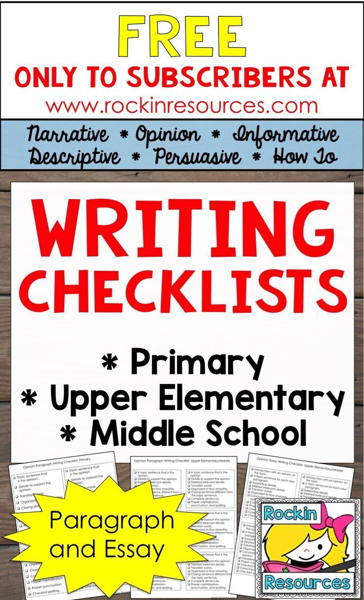 This Writing Checklist Resource Is Packed With  Pages Of