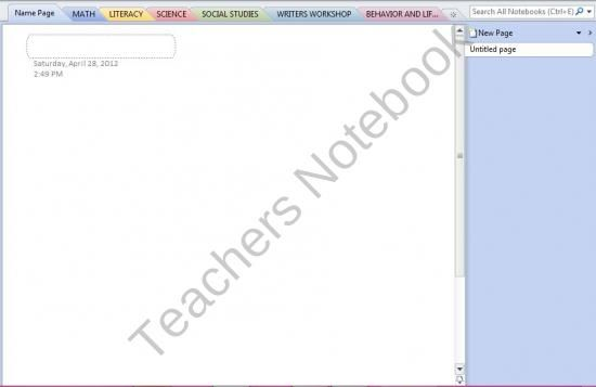 OneNote Student Notebook Template from Teaching 4th With Style on - microsoft word notepad template
