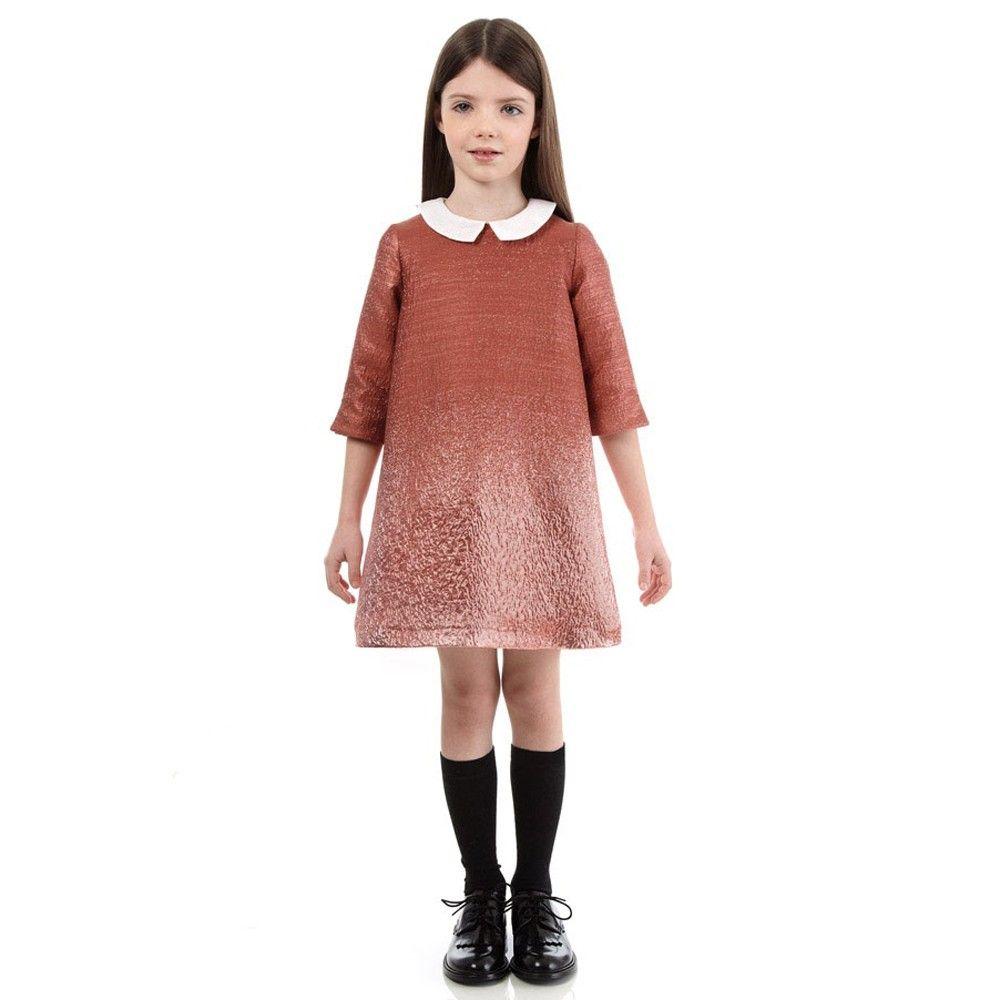 Fendi metallic pink shift dress well dressed kids pinterest