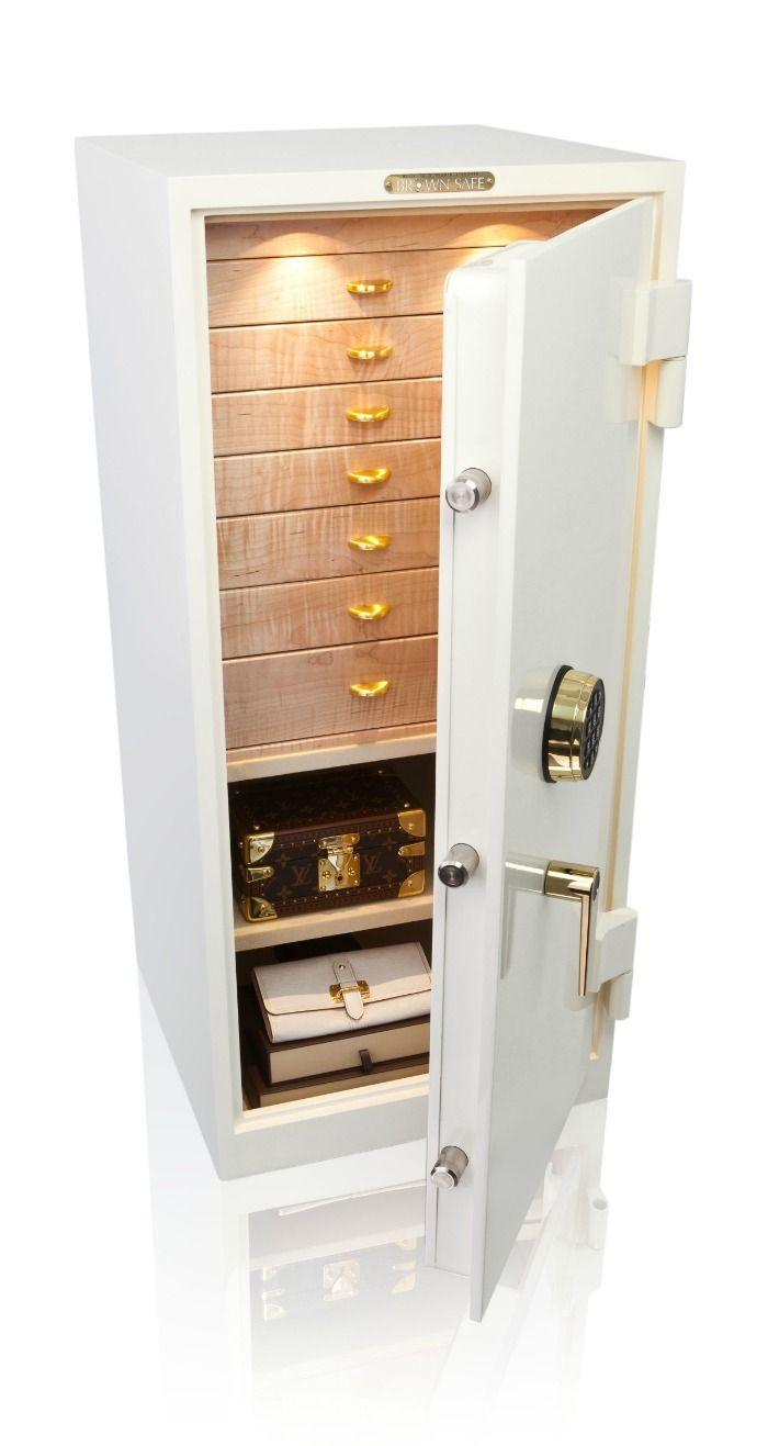 A Beautiful Custom Safe From Brown Safes As Beautiful As The Jewelry I D Like To Store Inside It Jewellery Storage Jewelry Safe Safe Box