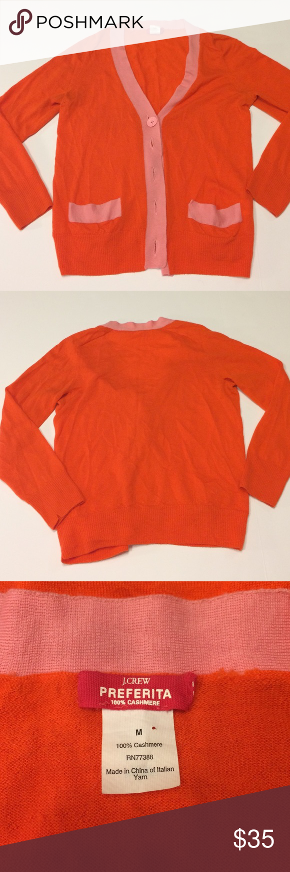 J. Crew cashmere sweater-size m | Sweater cardigan, There and The ...