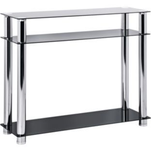 Buy Hygena Matrix Console Table Black Glass At Argos Co Uk