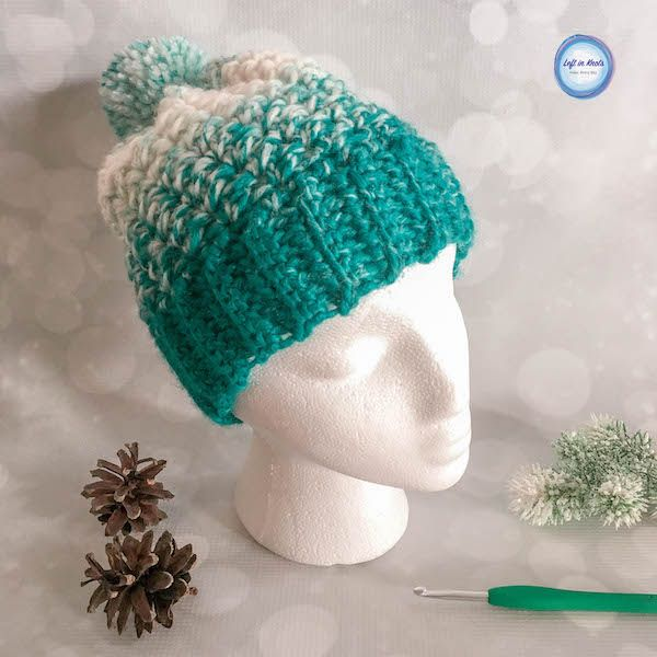 Snowball Slouch Hat Crochet Pattern