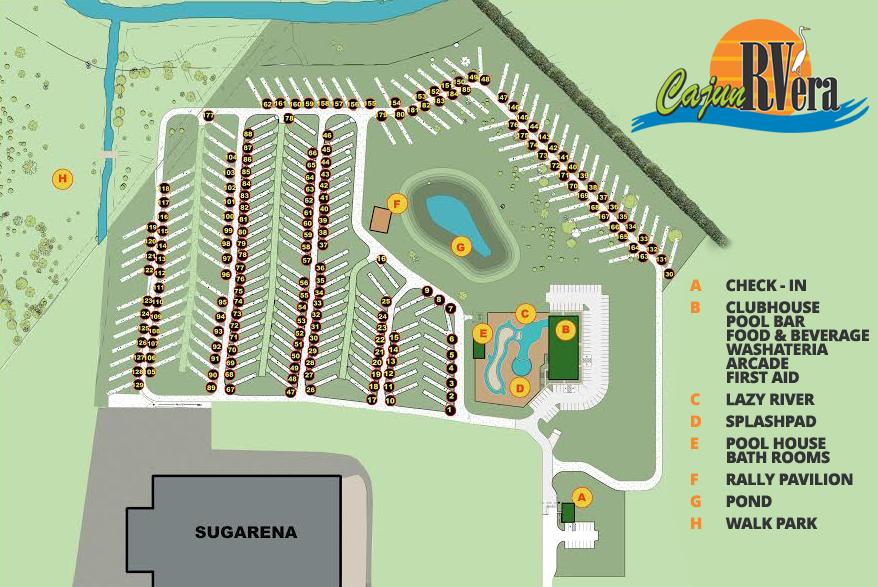 Louisiana New Iberia Cajun Rvera Rv Park Pool Amp Lazy