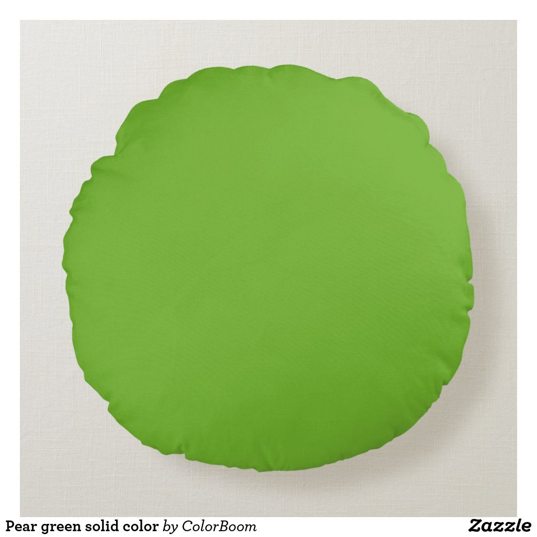 Pear green solid color round pillow
