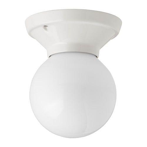 VITEMÖLLA Ceiling/wall lamp, porcelain ceramic stoneware, glass in