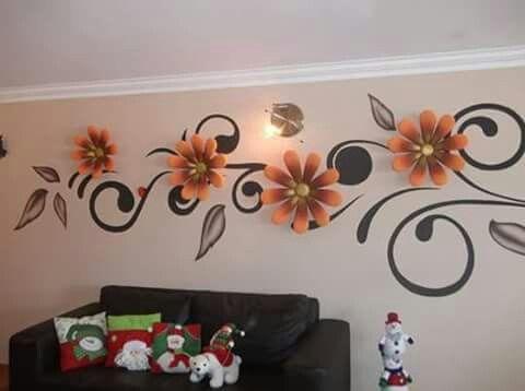 Decoracion De Paredes Diseno De Pintura De Pared Decoracion De Pared Decoracion De Pared De Flores