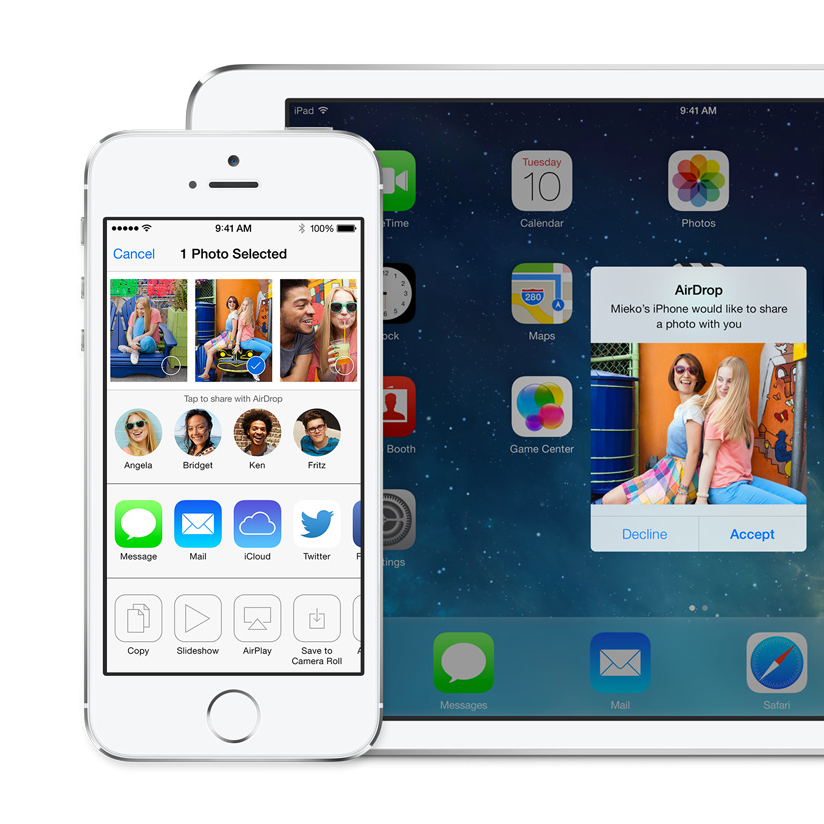iOS Use AirDrop to wirelessly share content Pour partager
