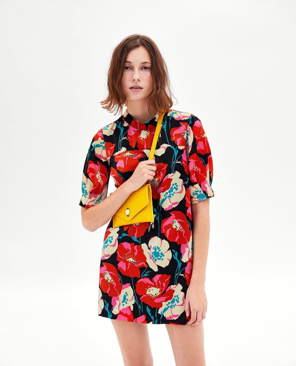 Bild 4 Von Kleid Mit Mohnblumen Von Zara With Images Fashion Prints Minimal Fashion Fashion Sewing