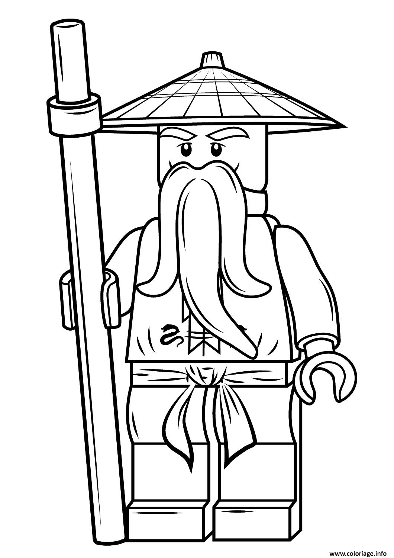 Coloriage lego ninjago sensei wu Dessin  Imprimer