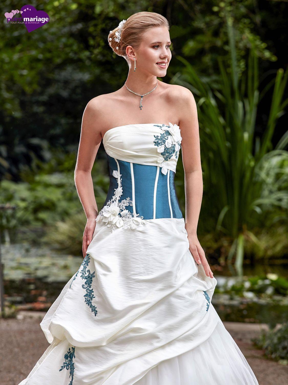 5a2a4f3443a Le modèle Eva de Point Mariage collection 2017 est une robe de mariée de  coupe princesse