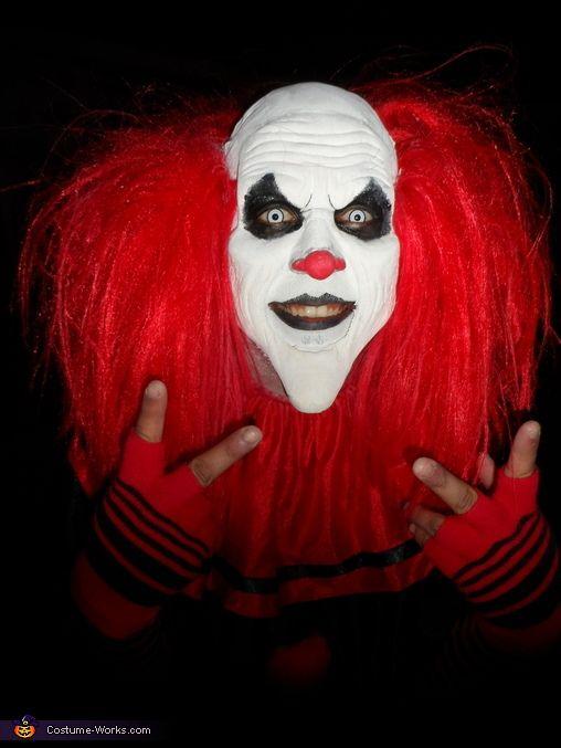 Creepy clown party scary creepy mask halloween clowns costumes ...