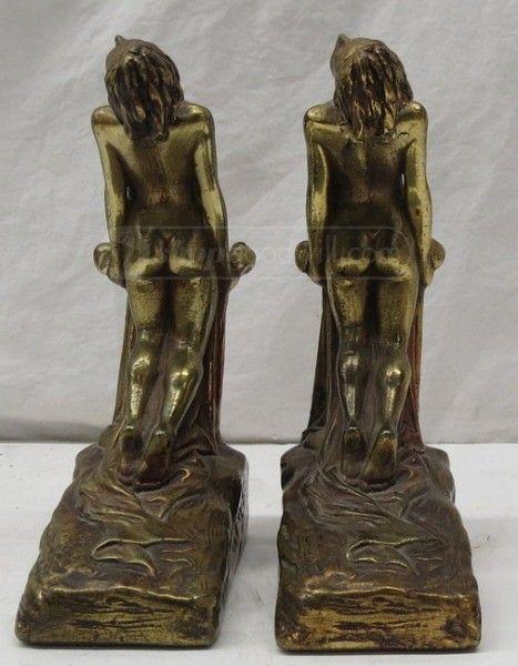 shopgoodwill.com - #32214726 - Pair of Art Deco Brass Nude Bookends Circa 1927 - 8/17/2016 7:45:00 PM