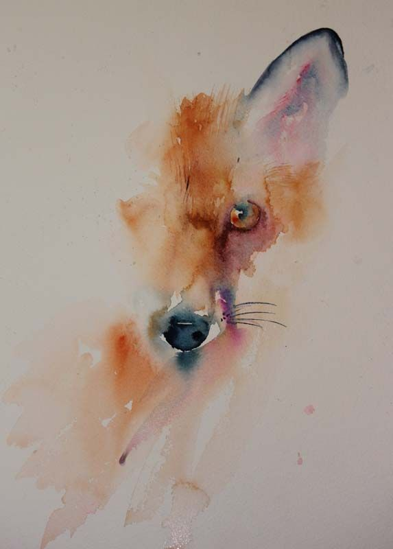 Fuchs Aquarelle Fox Art Animal Art Watercolor Art