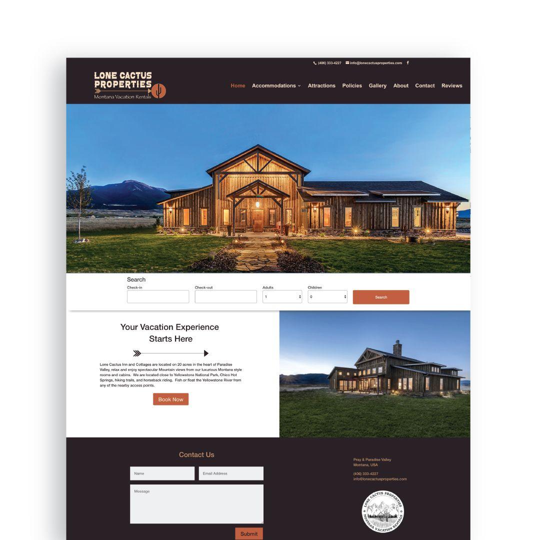 Web Design Vacation Rentals Montana Vacation Rentals Vacation Rental Vacation