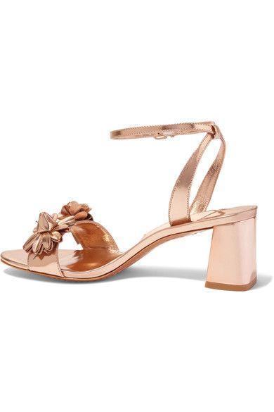 2b0bcd30fdfc Sophia Webster - Lilico Appliquéd Metallic Leather Sandals - Gold - IT