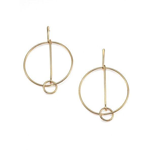 Chloe Cate Drop Hoop Earrings 390 Liked On Polyvore