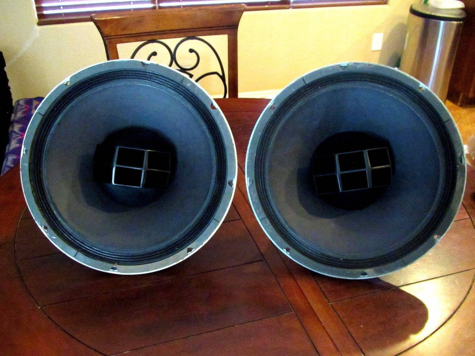 Vintage Altec Lansing 604E Super Duplex Horn Coaxial Full Range Speakers No Crossover 01 cent Shipping