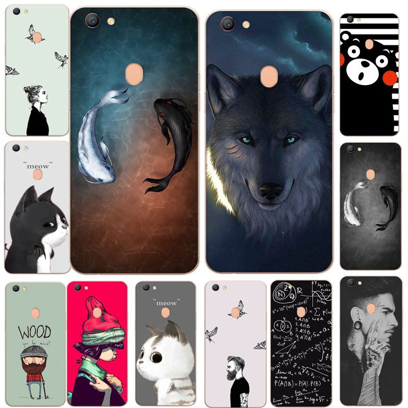 newest collection 06c6c 32f03 For OPPO F5 Case 6.0 Luxury Pattern Soft Silicone TPU Cover Animal ...
