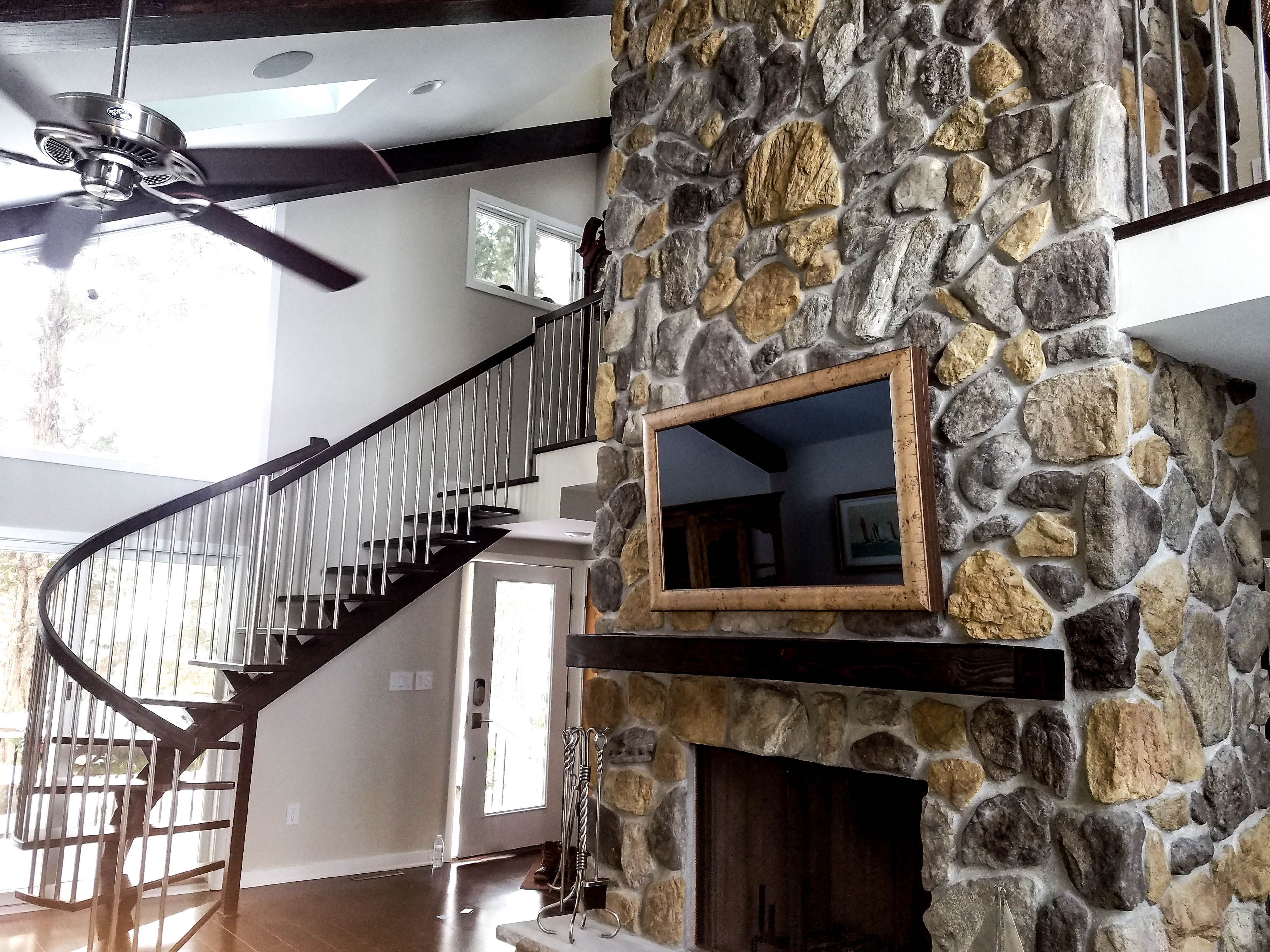 Best Custom Built Half Spiral Staircase With A Single Support 640 x 480