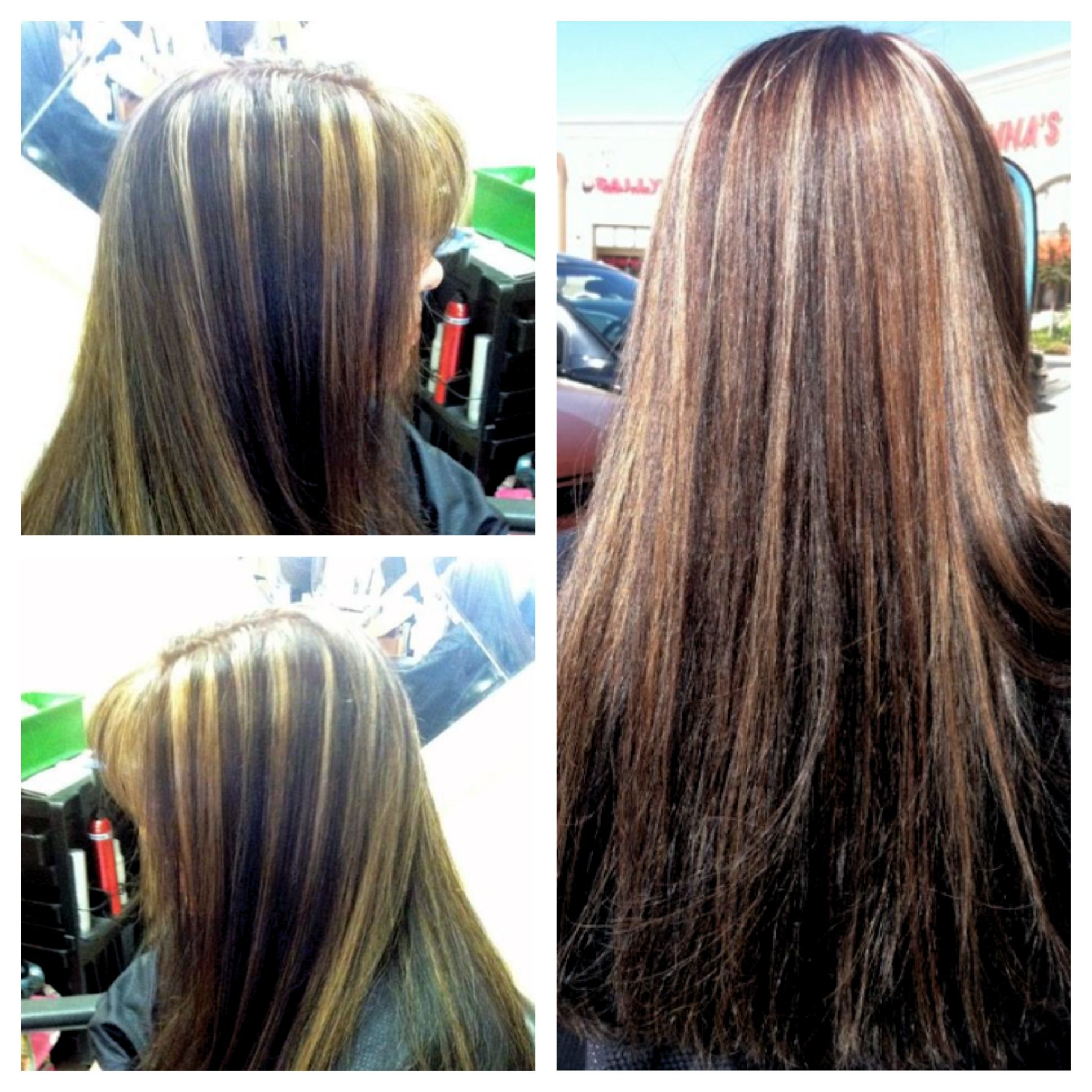 highlights on previously black hair, Dimensional Color ...