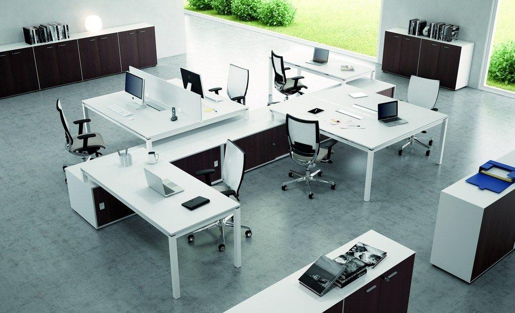 Quadrifoglio Mobili Per Ufficio.X4 Workstation Desk By Quadrifoglio Sistemi D Arredo Design