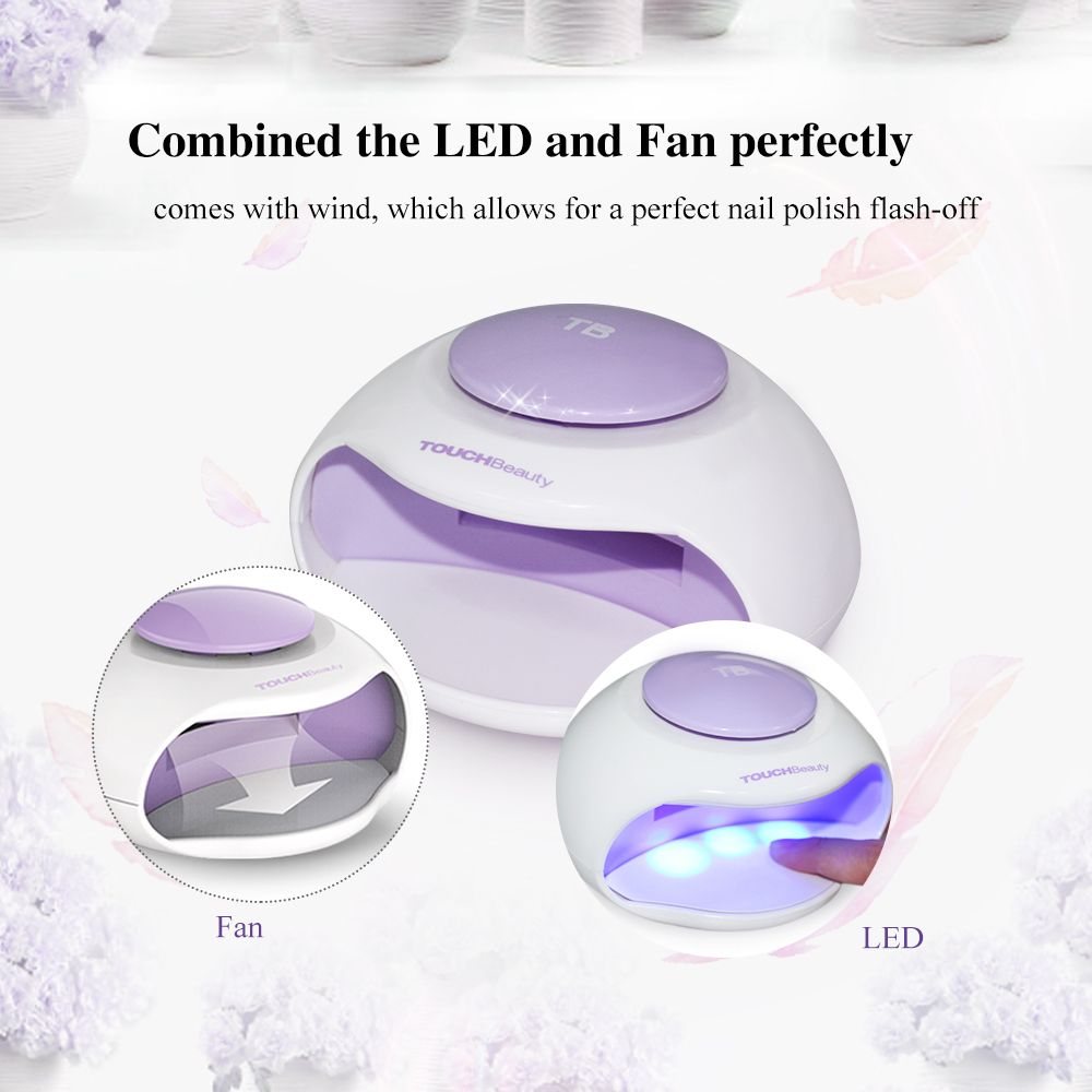 TOUCHBeauty wind nail dryer electric led light automatic press ...