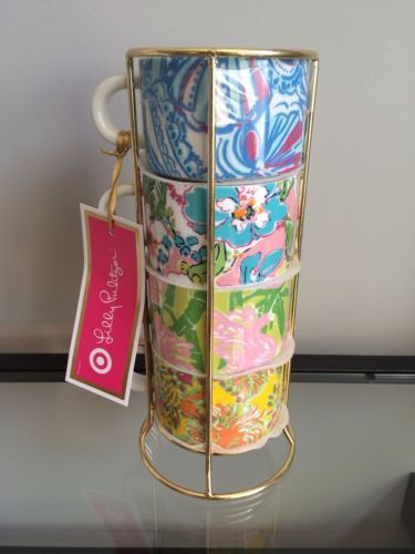 Lilly-Pulitzer-For-Target-Espresso-Cups-Mugs-Set-Four ...