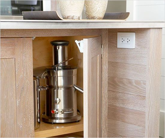 Place outlets in a kitchen island someplace where they (or wires ...