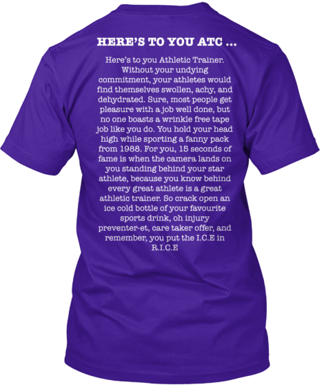 Here's to you Athletic Trainer - Limited | Teespring