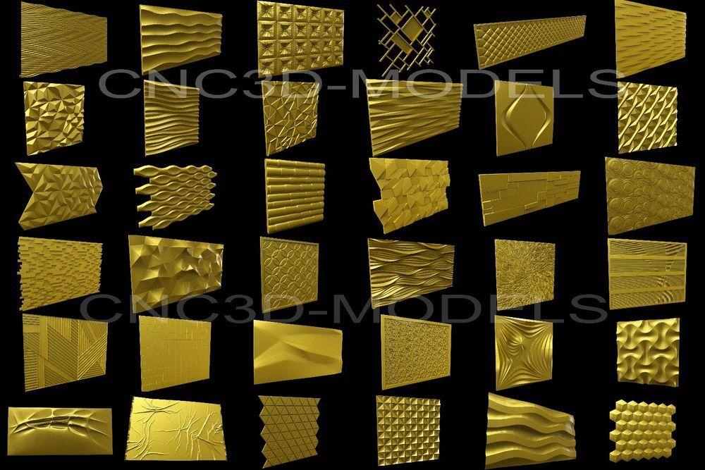 3D Model STL for CNC Router Engraver Carving Artcam Aspire Collection