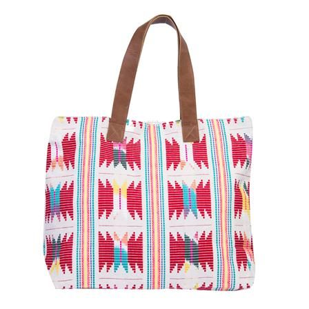 Echo Tribal Cotton Tote, Terracotta