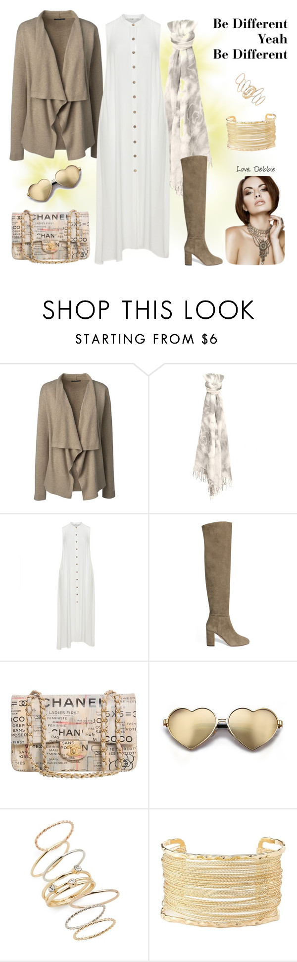 """Be Different Yeah Be Different"" by debbie-michailides ❤ liked on Polyvore featuring Lands' End, Mat, Aquazzura, Chanel, Wildfox, BP. and Charlotte Russe"