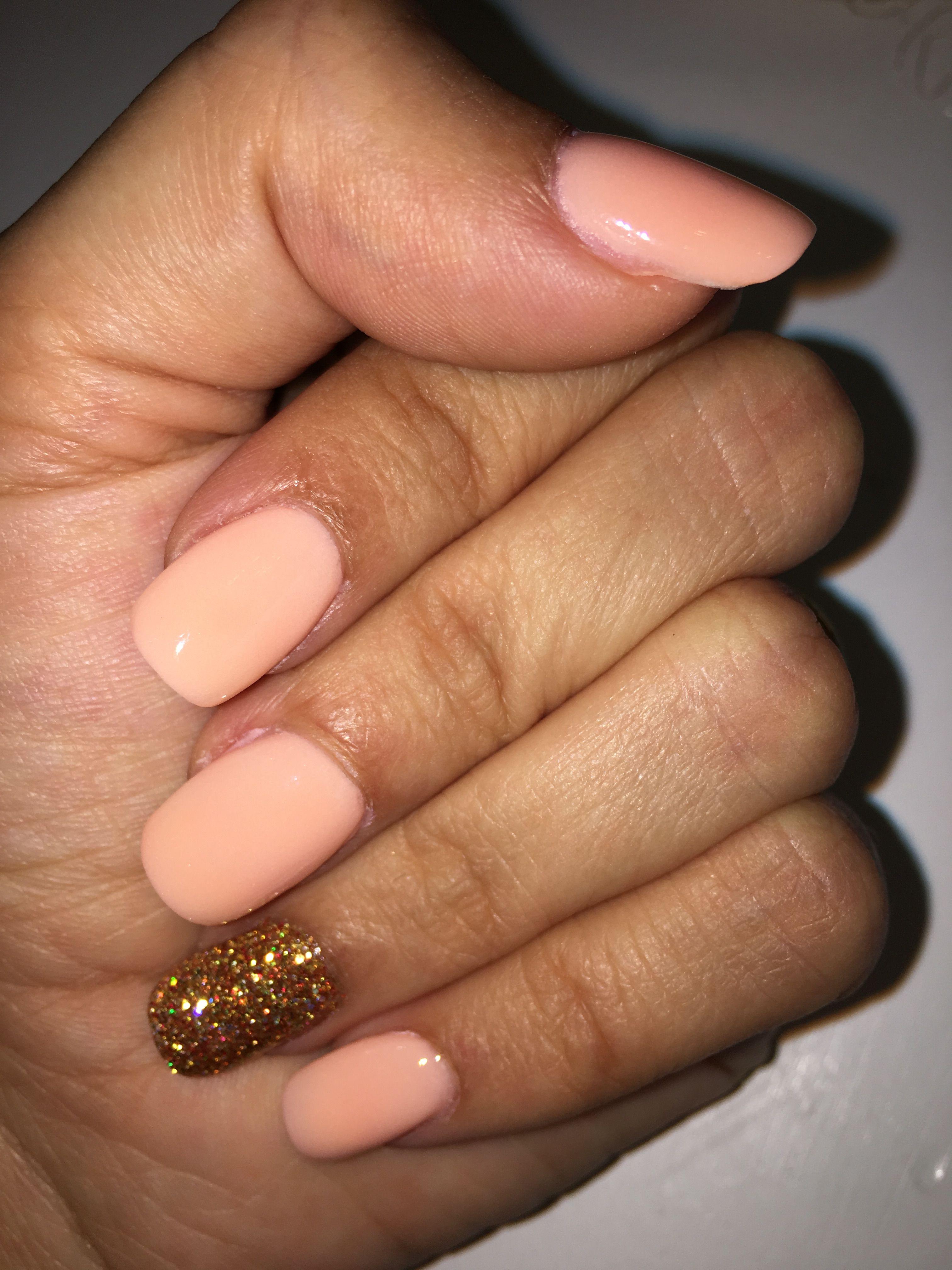 SNS powder dip on natural nails | Nails | Pinterest
